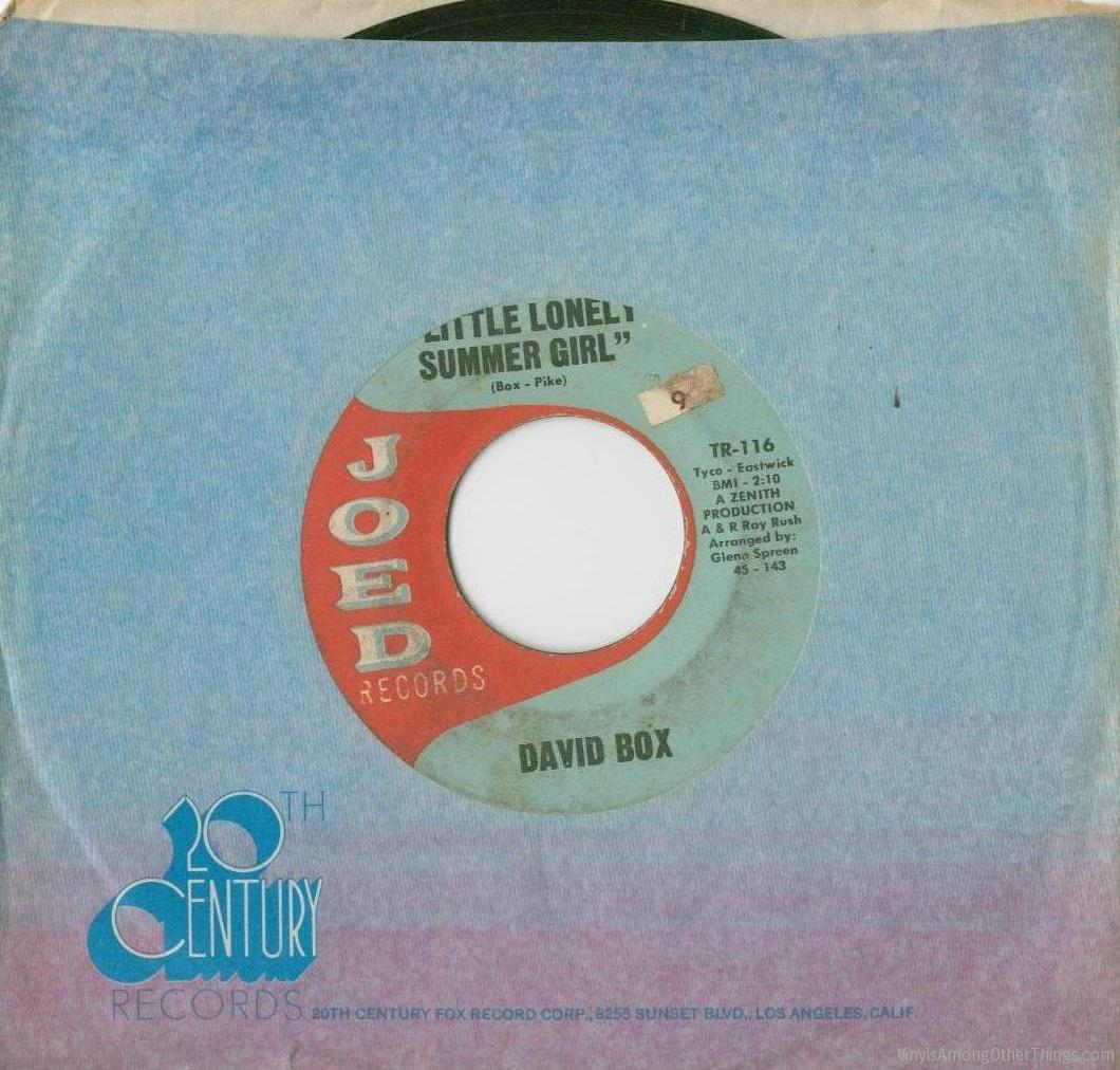 """David Box – """"Lonely Little Summer Girl / No One Will Ever Know"""""""